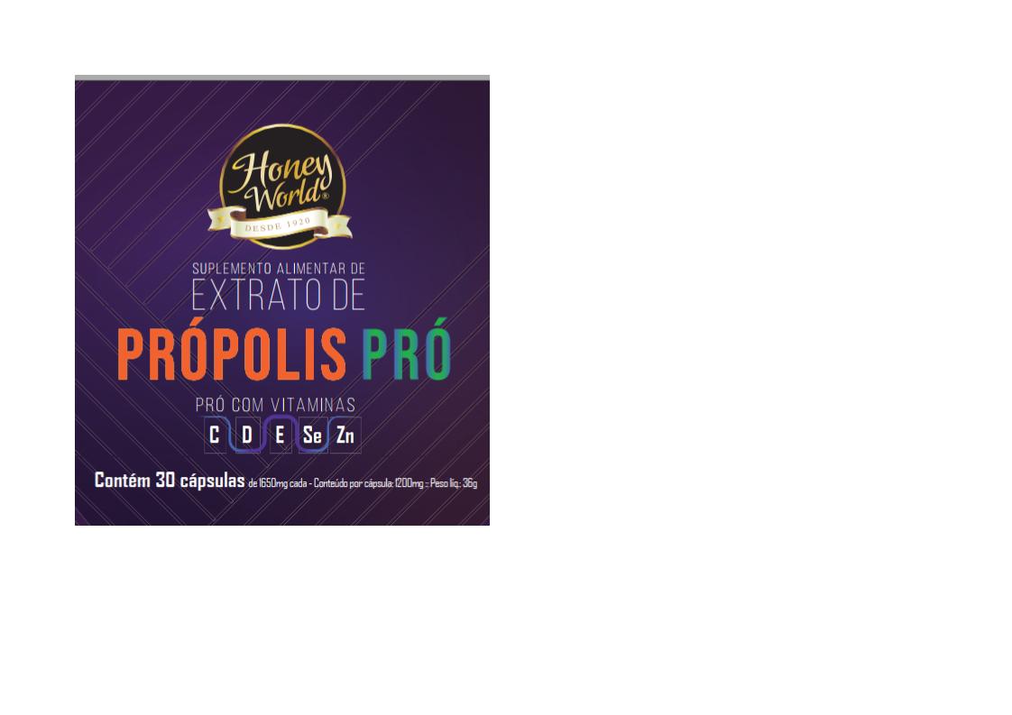 Propolis Pró - Vitaminas C,D,E,Se, ZN 30 caps 1200mg