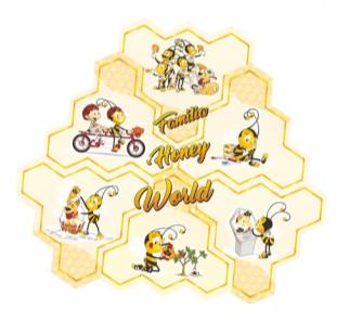 Quebra cabeça Familha Honey World