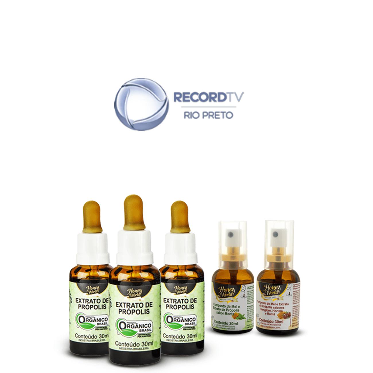 R1 - Extrato de Própolis Verde Alecrim Orgânico - Compre 3 Extrato e Ganhe 01 Spray