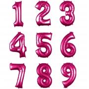 Balão metalizado pink números 40cm