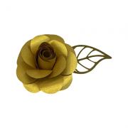 Flor p/ bolo metalizada 9cm