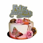 Topper cake glitter diversos