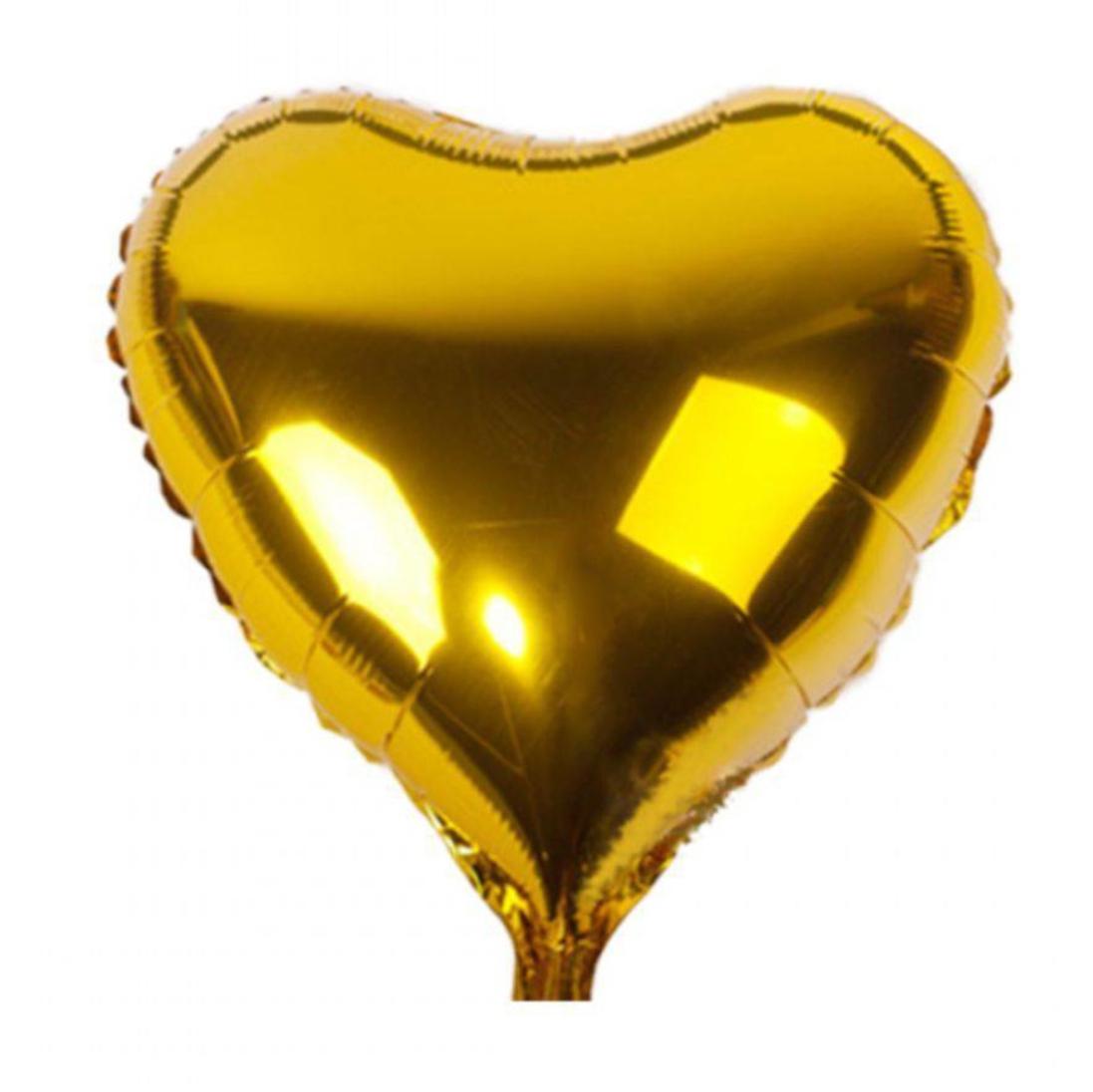 Balão coração metalizado 25cm