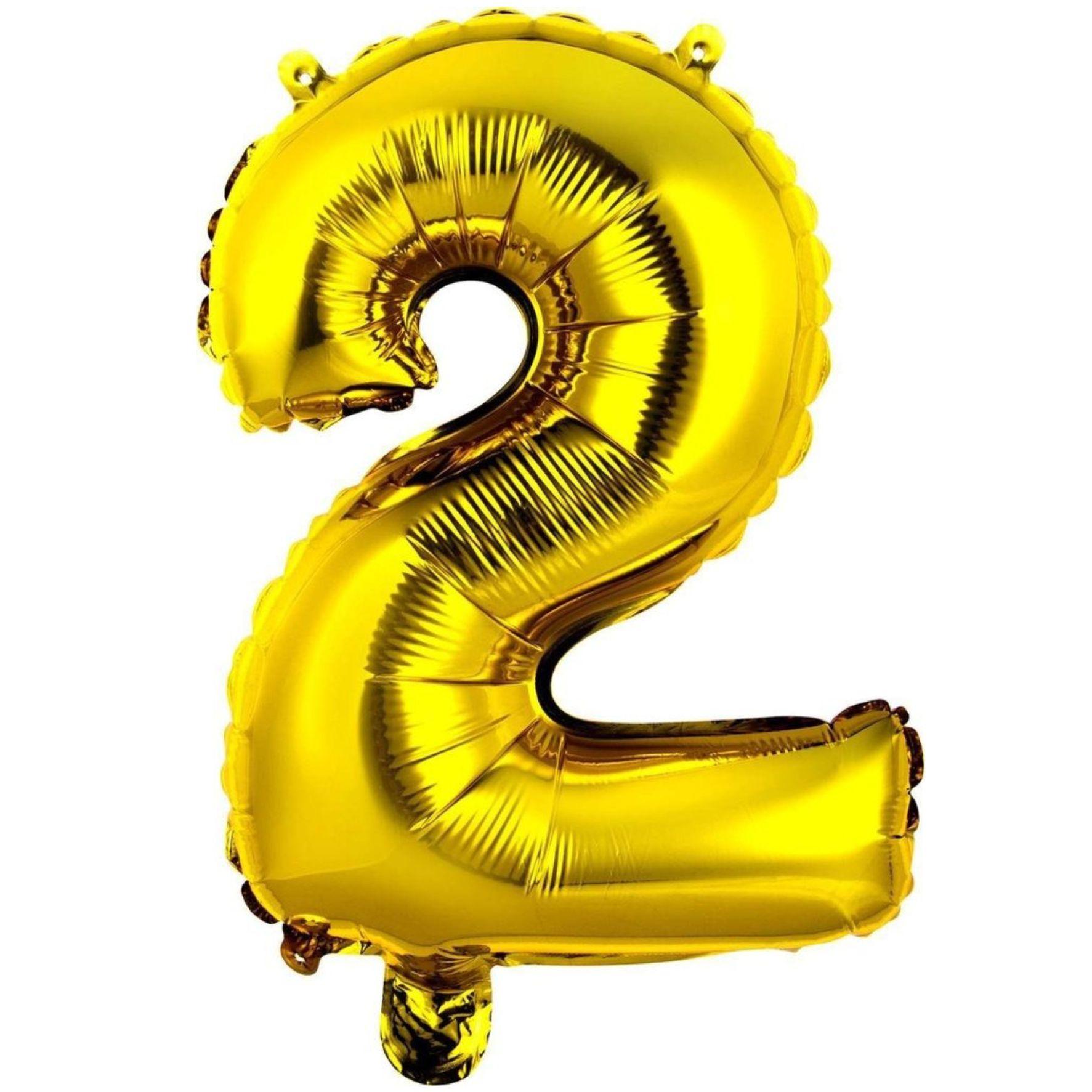 Balão metalizado ouro números 40cm