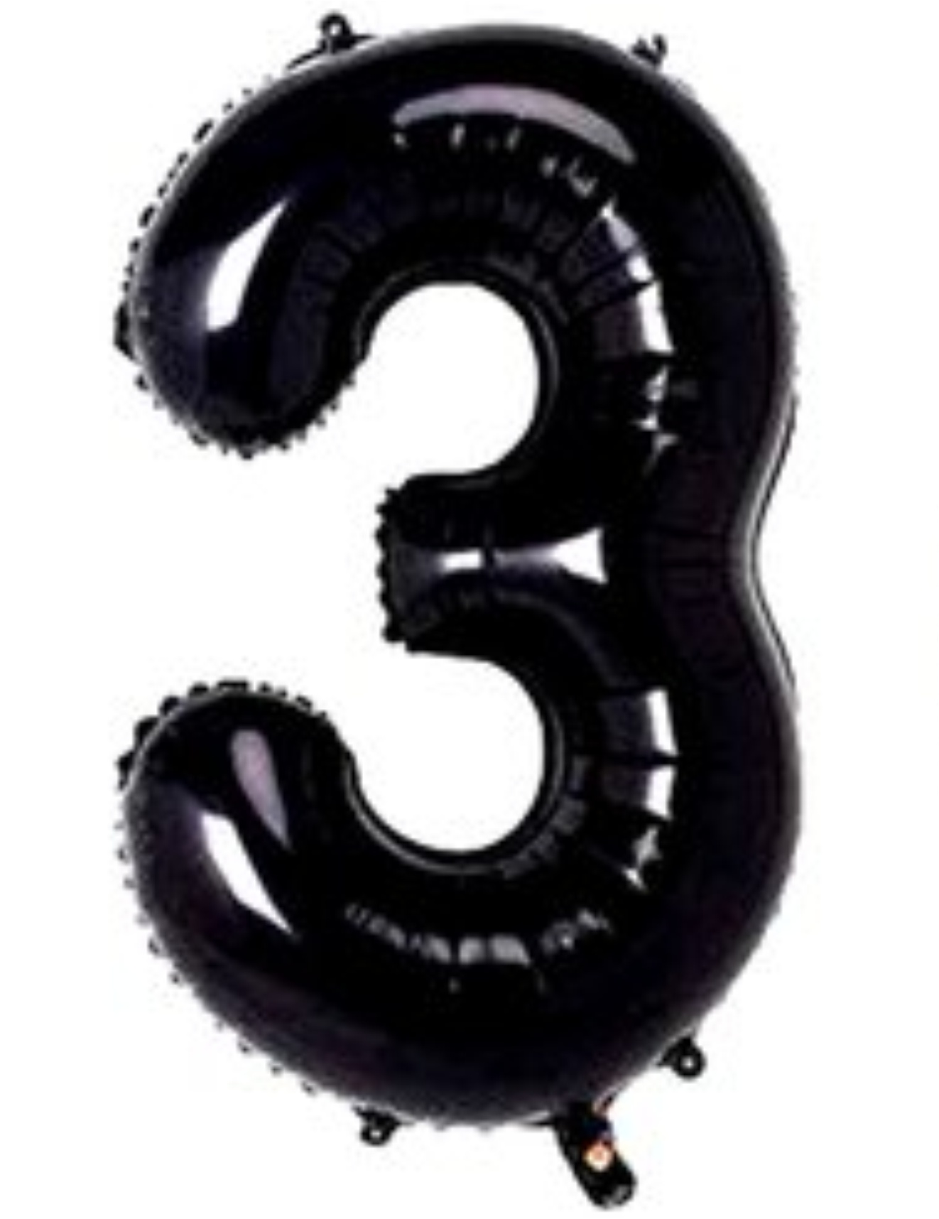 Balão metalizado preto números 40cm