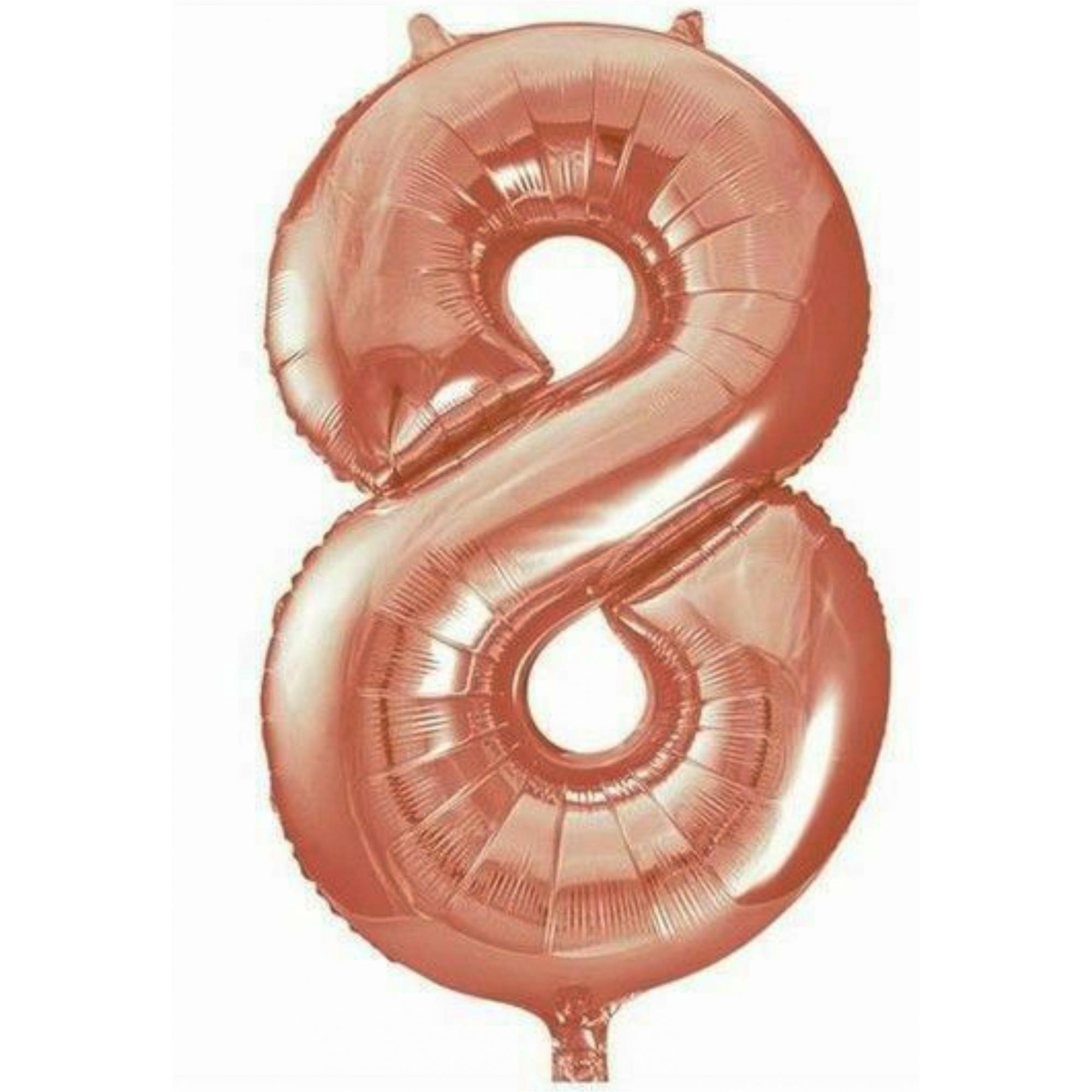 Balão metalizado rose números 40cm