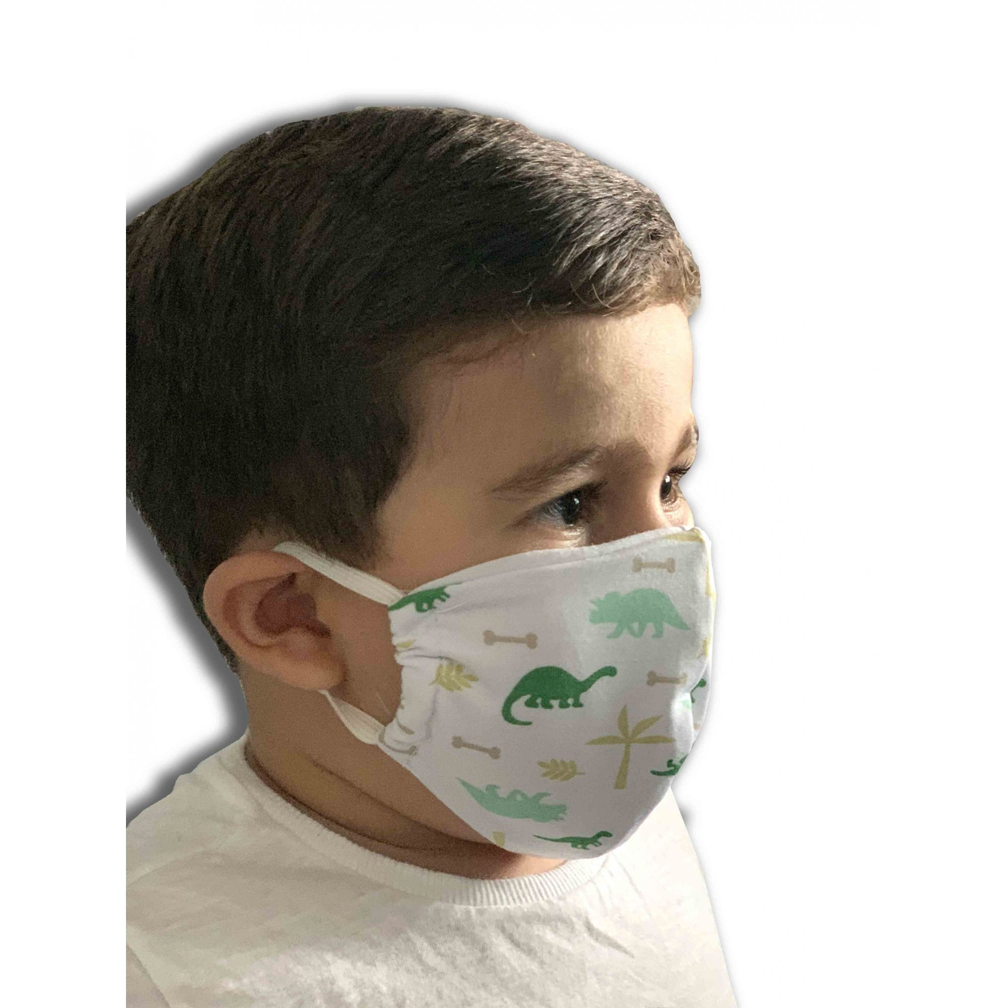Kit máscara tecido dupla face infantil c/4