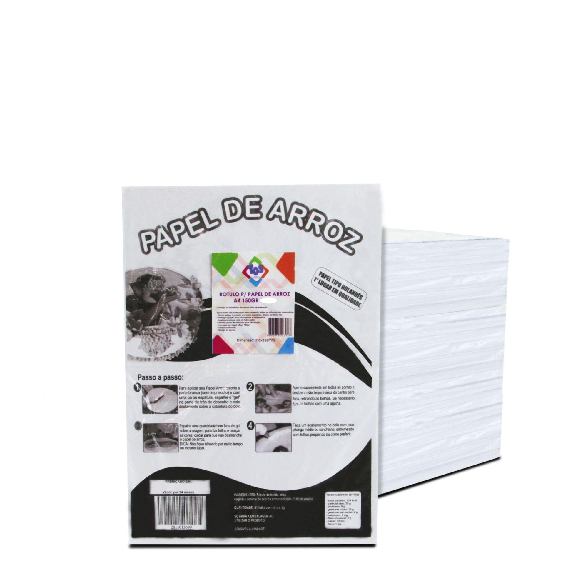 Rotulo para papel de arroz A4 c/50