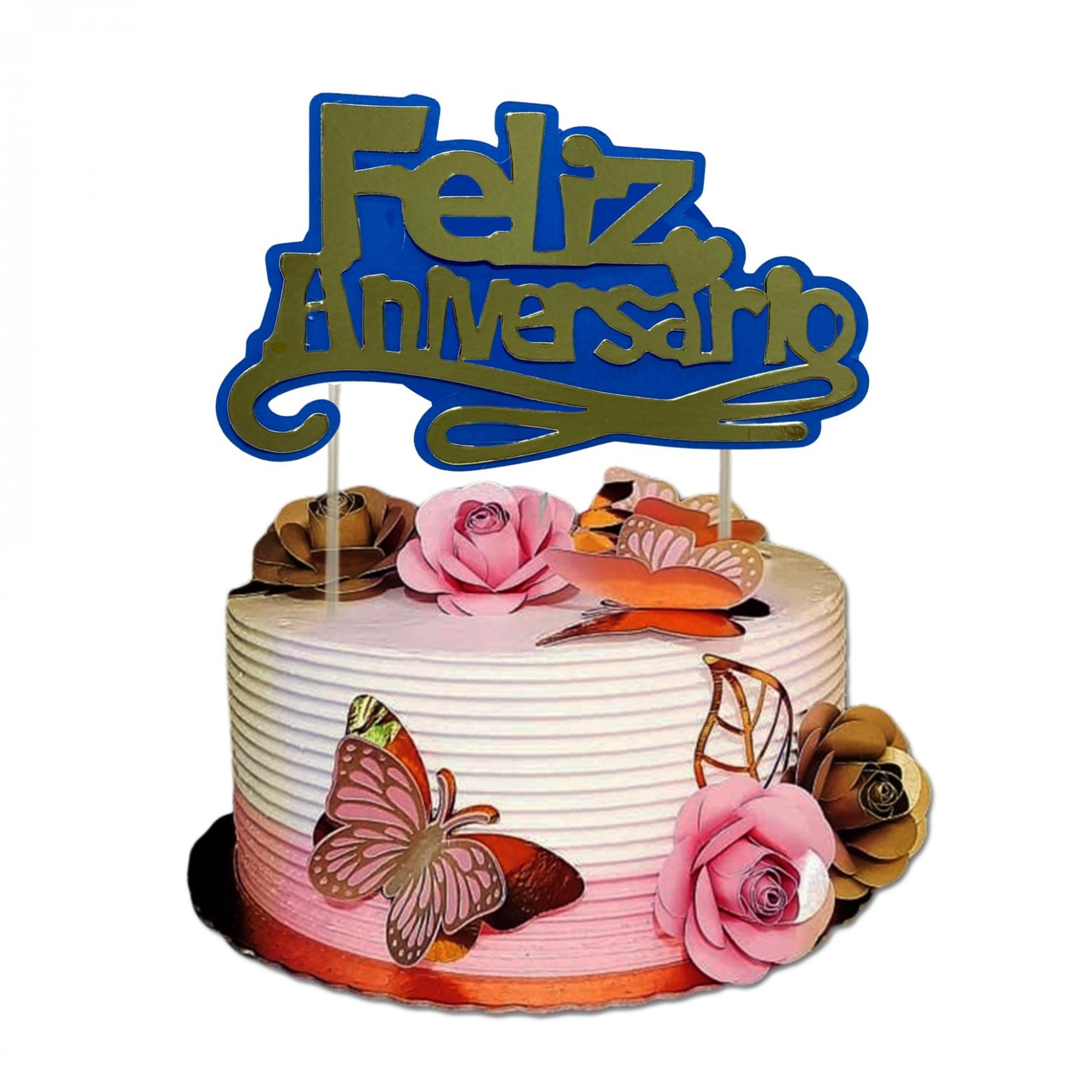 Topper cake cores diversos