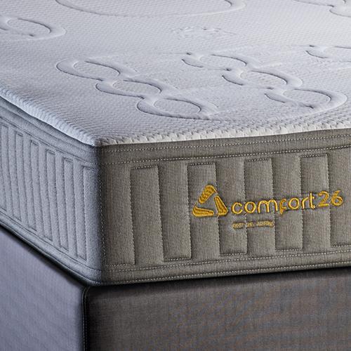 Conjunto Colchão de Mola Trinomio Comfort 26 + Sommier 34 de Altura