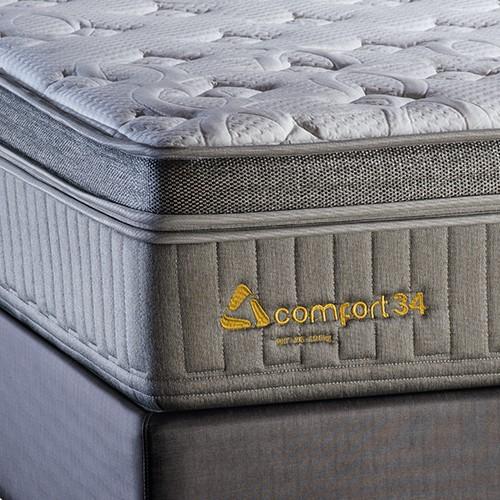 Conjunto Colchão de Mola Trinomio Comfort 34 iMassage + Sommier 34 de Altura