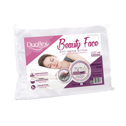 Travesseiro Duoflex Anti-Rugas Beauty Face - 50x70