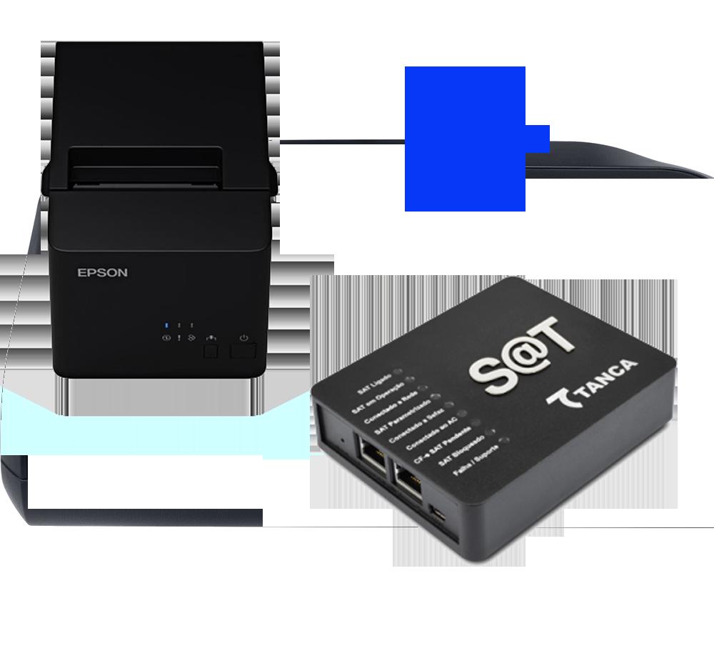 KIT FISCAL - SAT TANCA TS 1000 + IMPRESSORA TM-T20X USB/SERIAL