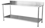 Mesa Total Inox 2,50 x 0,70 com Submesa e Espelho