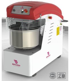 Amassadeira Espiral 60Kg 2 Velocidades Motor 2,5/4,0CV - AES-60/1-2V-220T