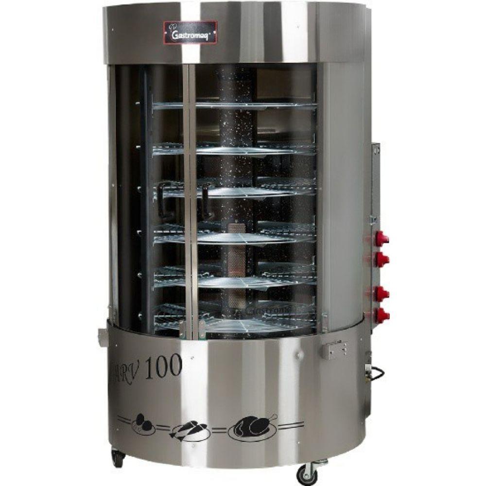 Assador Rotativo Vertical Gastromaq Queimador Central 1/4CV 100kg ARV100