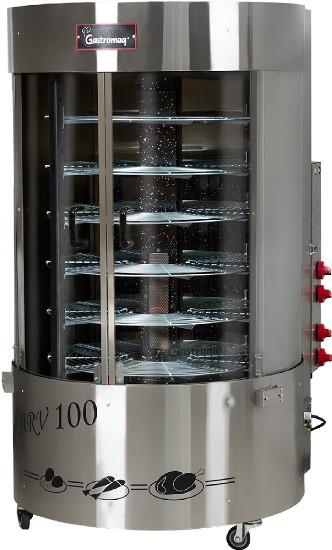 Assador Rotativo Vertical com Queimador Central 1/4CV 100kg - ARV100