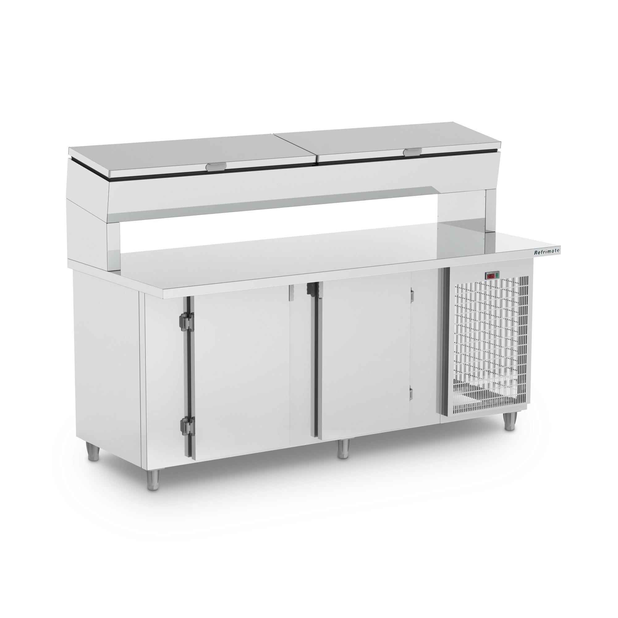 Balcão Condimentadora 2,5m Refrigerado Refrimate - BSRC 2500