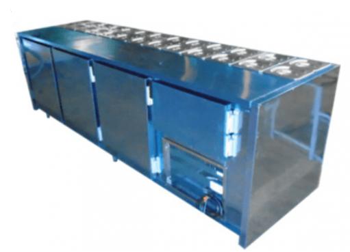 Balcão de Serviço Condimentador com Cuba 2500x600x900 Inox ChimaFrio - CBS2500