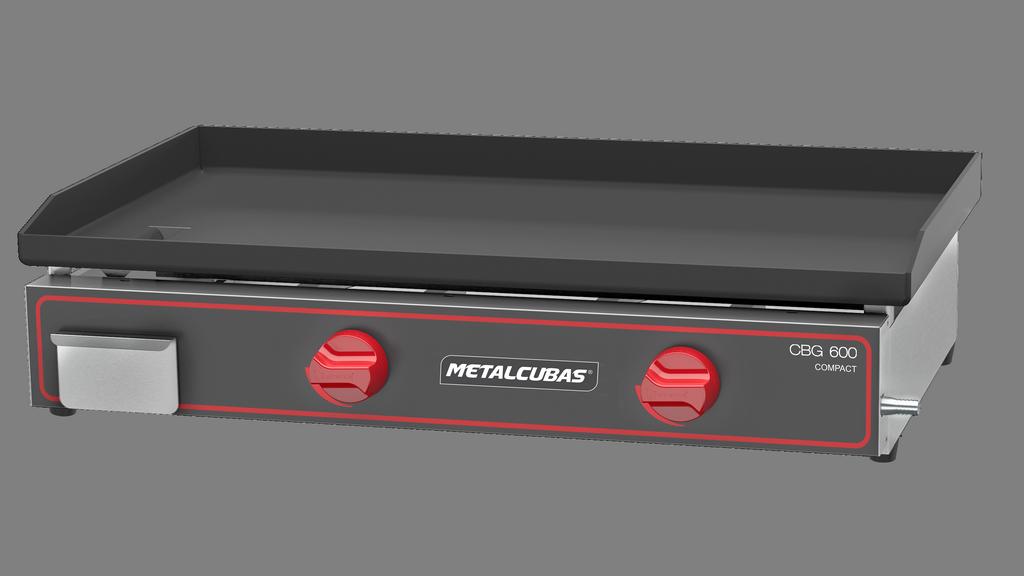 Chapa Bifeteira a Gás 60cm Compact Metalcubas - CBG600C