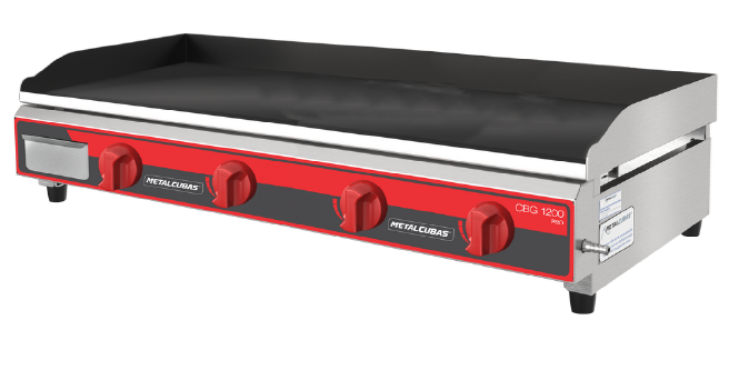 Chapa Bifeteira a Gás 120cm Pro Metalcubas - CBG1200PRO