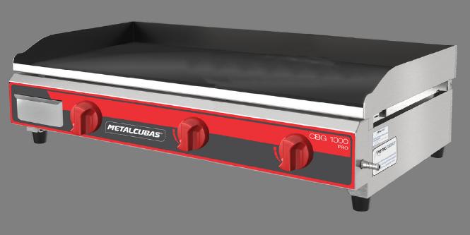 Chapa Bifeteira a Gás 1m Pro Metalcubas - CBG1000PRO