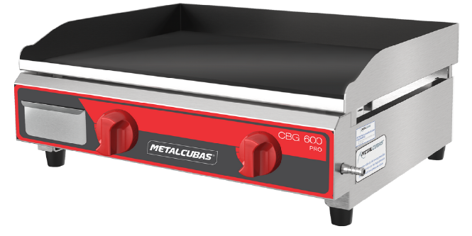 Chapa Bifeteira a Gás 60cm Pro Metalcubas - CBG600PRO