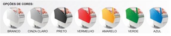Expositor de Açougue Top 2,0m Vidro Curvo Desembaçante Refrimate - EAT 2000 - VCD