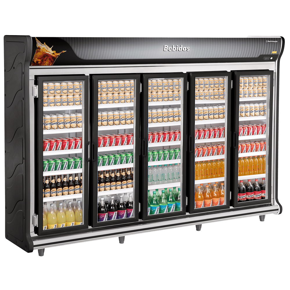 Expositor de Bebidas 5 Portas Refrimate - ASB3000