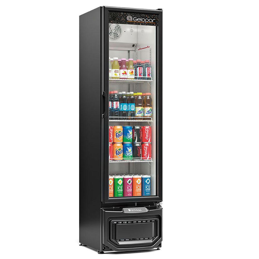 Expositor de Bebidas Visa Cooler 228 Litros Preto Gelopar - GPTU-230 PR