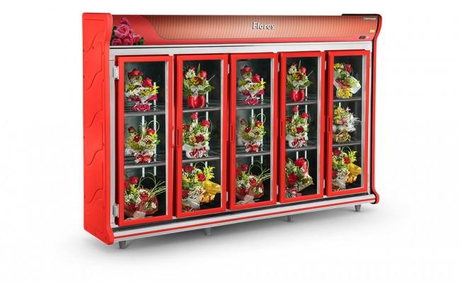 Expositor de Flores 5 Portas Refrimate - ASF3000