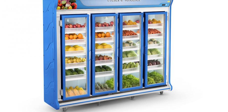 Expositor Frutas e Verduras 4 Portas