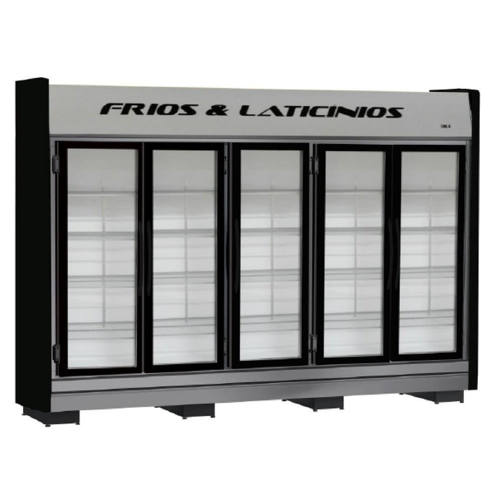 Expositor Frios e Laticínios 5 Portas Refrimate - ASFLPT5P