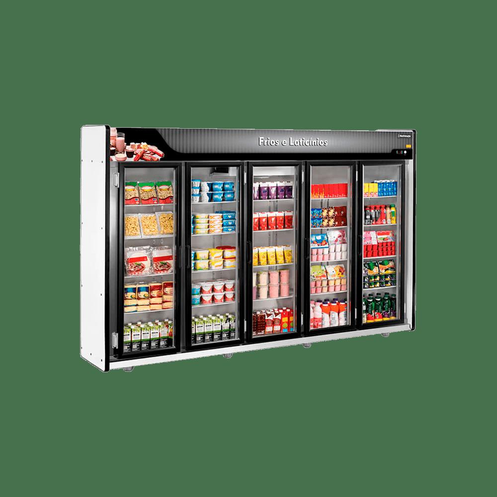 Expositor Frios e Laticínios 5 Portas Refrimate - ASFL5PP
