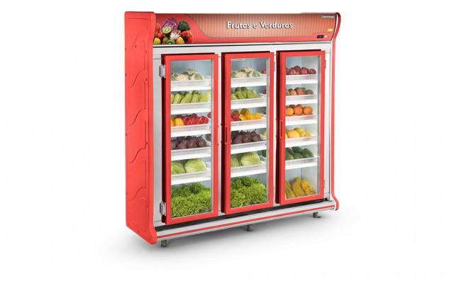 Expositor Frutas e Verduras 3 Portas Refrimate - ASFV2000