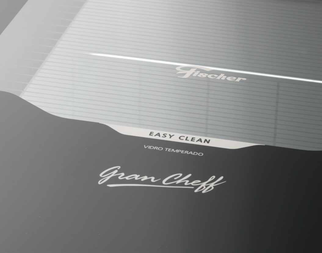 Fogão de Piso Fischer 5Q Gran Cheff Gás Silver