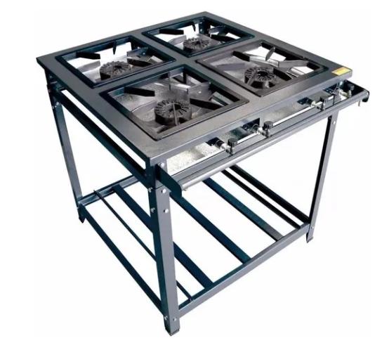 Fogão Par Standard Alta Pressão 4 Queimadores Simples Innal - FSPAP4BS