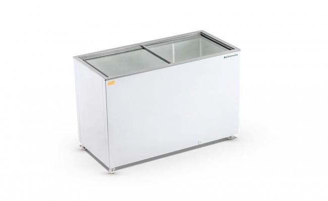 Freezer Horizontal Tampa de Vidro 420 Litros