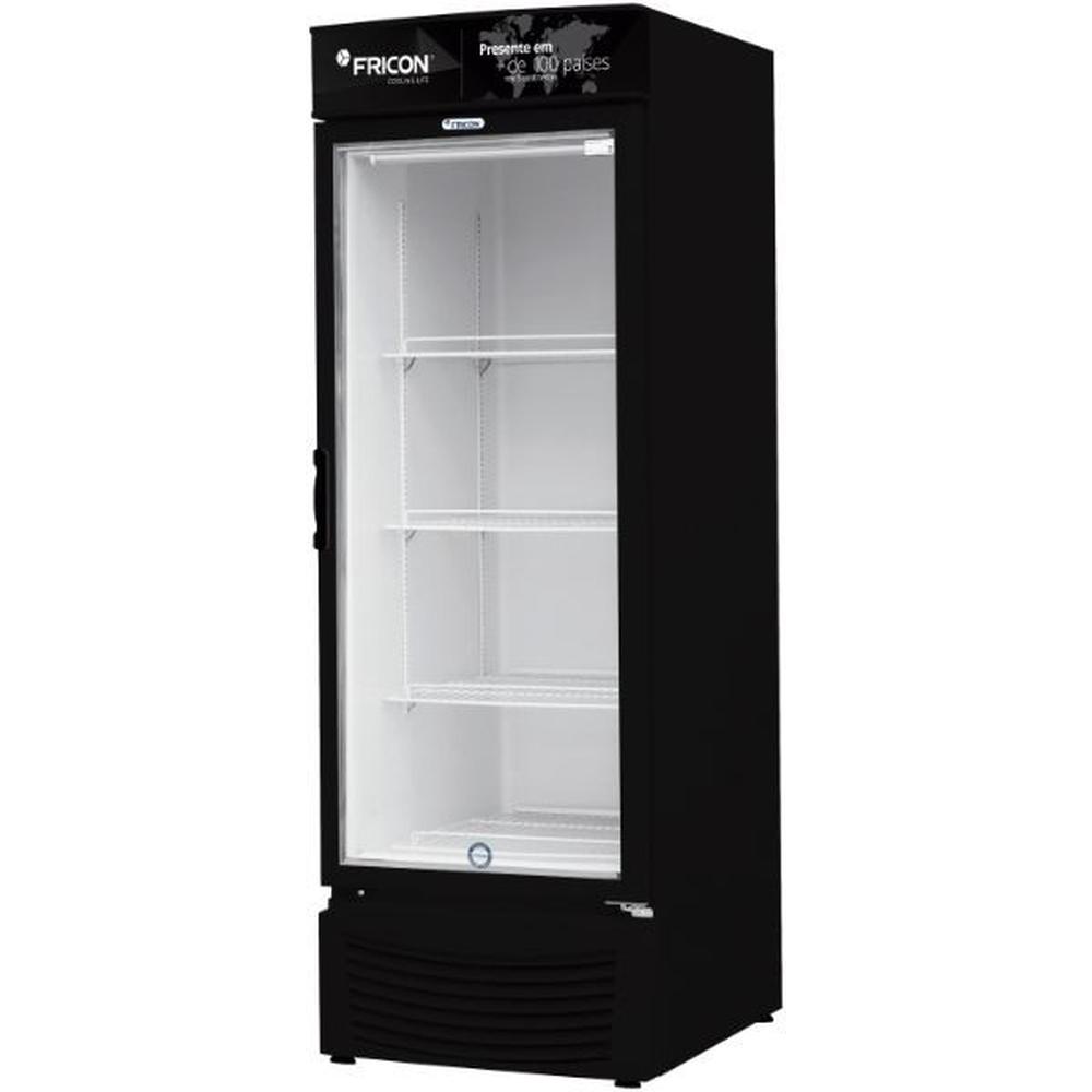 Freezer Vertical 565 Litros Porta de Vidro Preto Fricon - VCED565-2V023