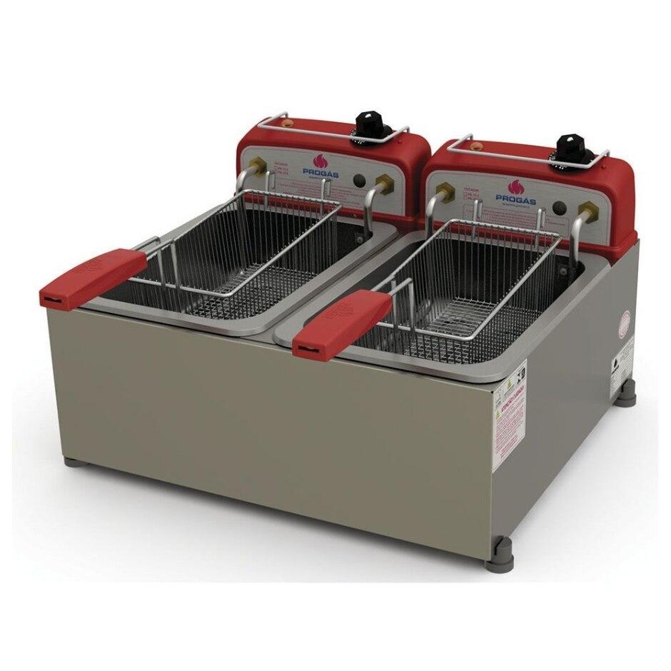 Fritadeira Elétrica 2 Cestos de 10 Litros Progás - PR-20E