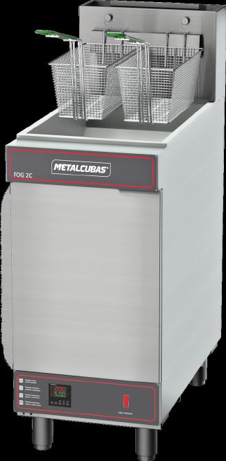 Fritadeira Industrial a Gás 2 Cestos Somente Óleo Metalcubas - FOG2C