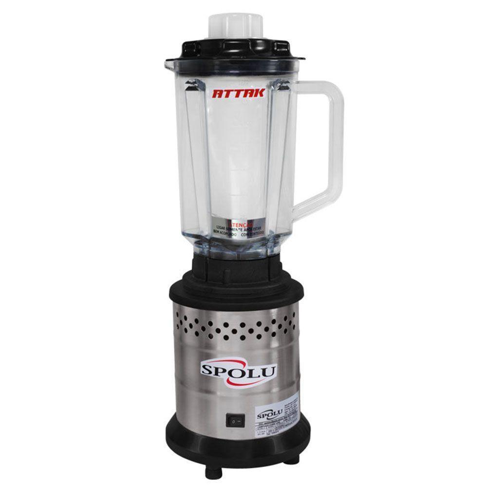 Liquidificador Attak 1,75 Litros Copo Polipropileno Spolu - SPL-036