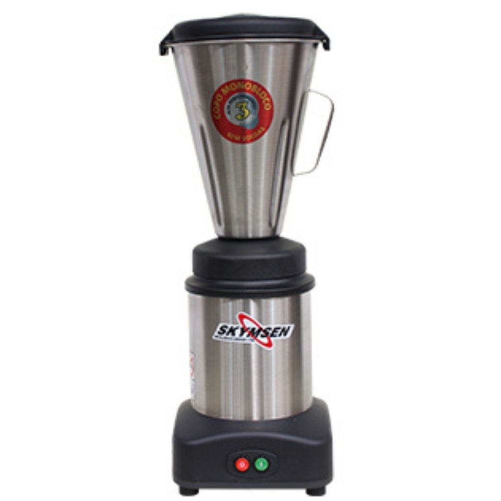 Liquidificador Industrial 3 Litros Monobloco Inox Skymsen - LS-03MB-N