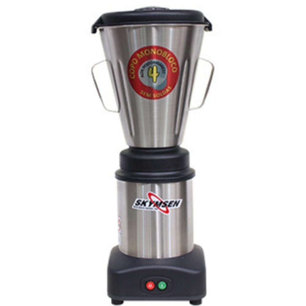 Liquidificador Industrial 4 Litros Monobloco Inox Skymsen - LS-04MB-N