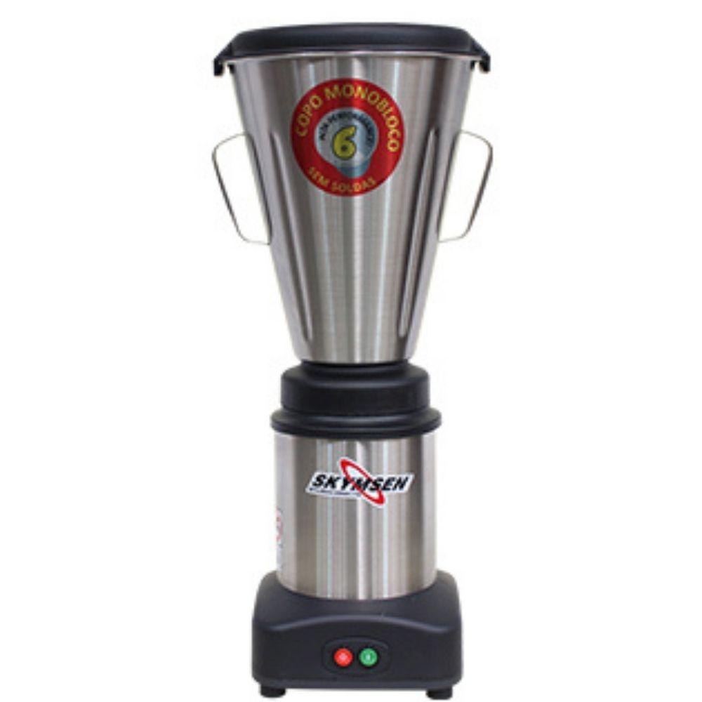 Liquidificador Industrial 6 Litros Monobloco Inox Skymsen - LS-06MB-N