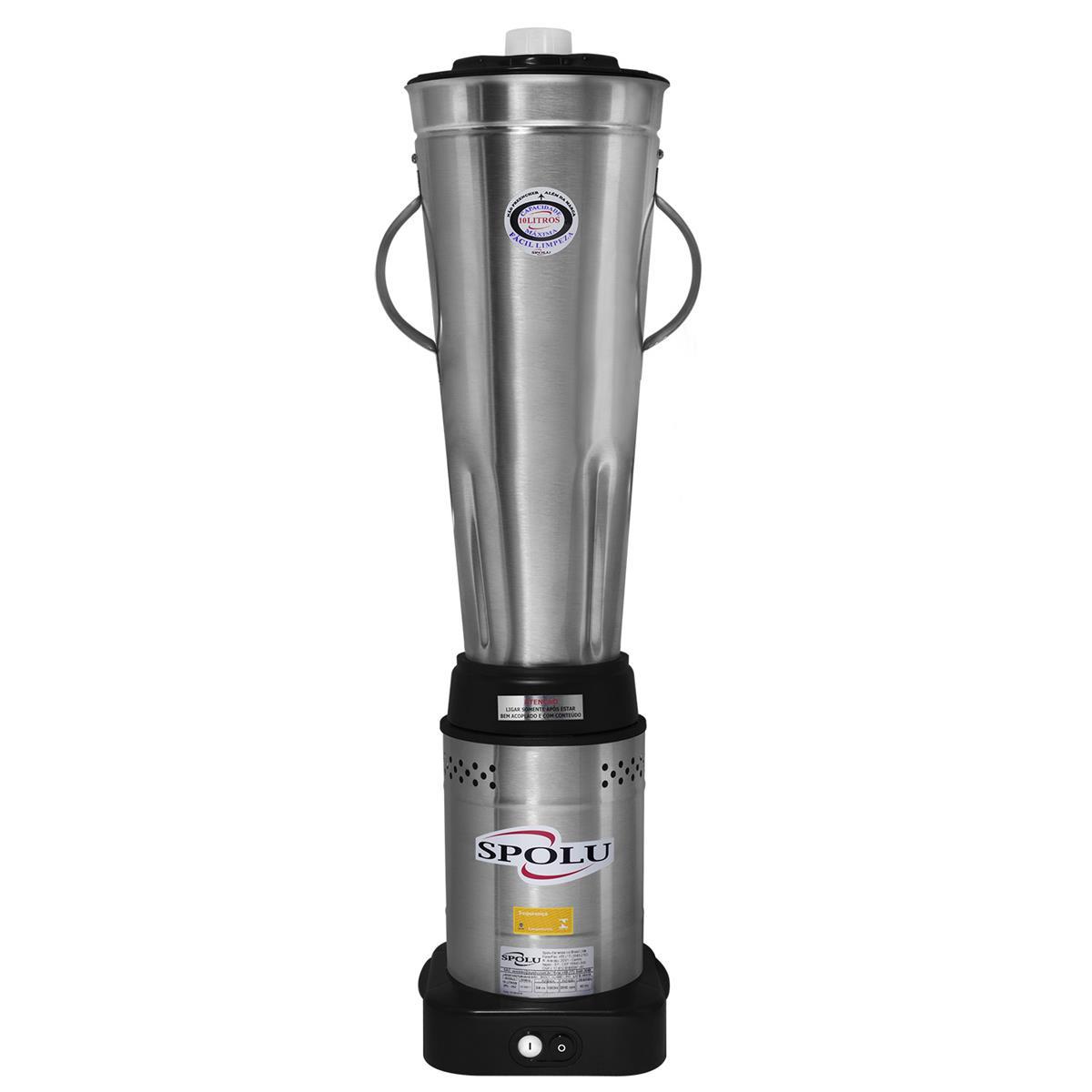Liquidificador Industrial Baixa Rotação 10 Litros Spolu - SPL052