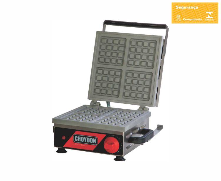 Maquina de Waffles Belgian Elétrica Croydon - MWQS-2