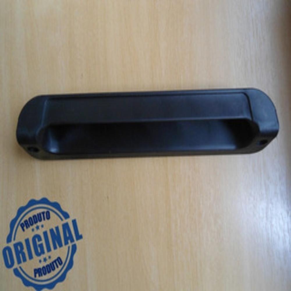 Puxador Vertical Embutido 18cm Preto Refrimate