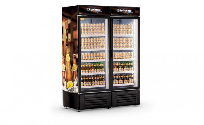 Visa Cooler 1300 Litros Porta de Vidro