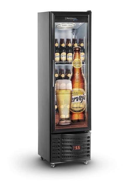 Visa Cooler Cervejeira Slim 230 Litros Porta de Vidro Refrimate - VCCS230V
